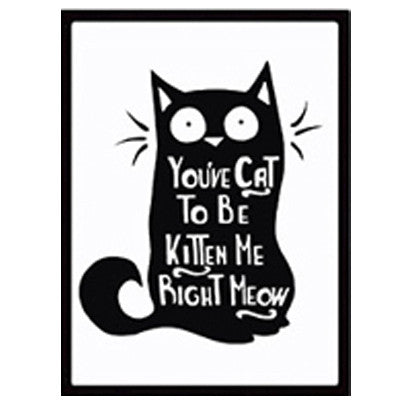 """You've Cat To Be Kitten Me Right Meow"" Canvas Print - LivePurrfect"