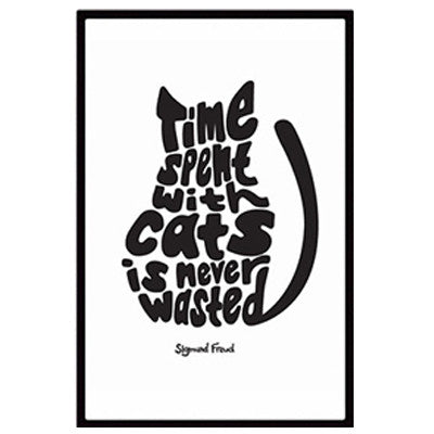 """Time Spent with Cats is Never Wasted"" Canvas Print - LivePurrfect"