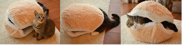 Cozy Clamshell Cat Bed - LivePurrfect