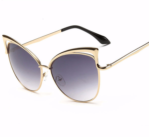 Gold Frame Cat-Eye Sunglasses - LivePurrfect