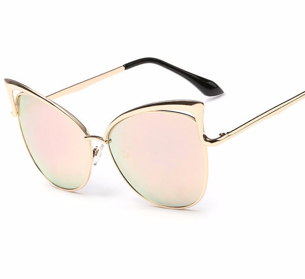 Gold Frame Cat-Eye Sunglasses