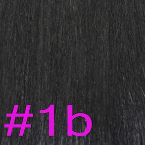 "24"" V-Tip Fusion Hair Extensions EUROPEAN STRAIGHT - Colour #001b - Natural Black"
