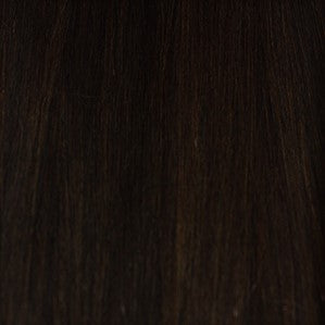 "24"" V-Tip Fusion Luxury EUROPEAN Virgin Remy Extensions  STRAIGHT - Colour #001b - Natural Brown/Black"
