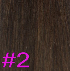 "20"" Micro Loop Hair Extensions EUROPEAN STRAIGHT - Colour #002 - Darkest Brown"