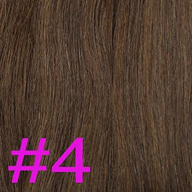 "20"" I-Tip Loop Hair Extensions EUROPEAN STRAIGHT - Colour #004 - Chocolate Brown"