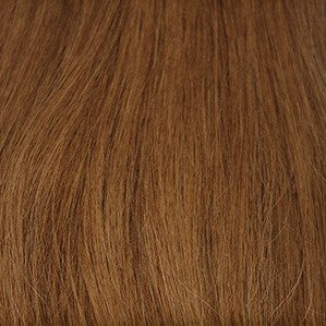 "20"" V-Tip Fusion Luxury EUROPEAN Virgin Remy Extensions  STRAIGHT - Colour #007 - Medium Golden Brown"