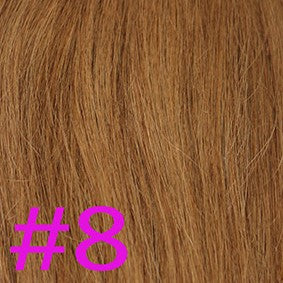 "20"" I-Tip Loop Hair Extensions EUROPEAN STRAIGHT - Colour #008 - Light Brown"