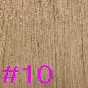 "24"" V-Tip Fusion Hair Extensions EUROPEAN STRAIGHT - Colour #010 - Medium Ash Brown"