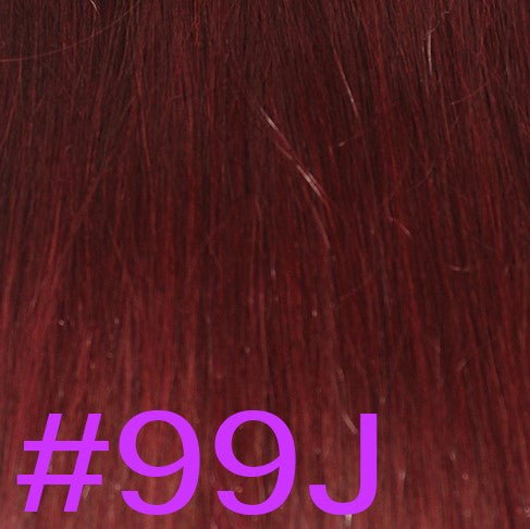 "20"" V-Tip Fusion Hair Extensions EUROPEAN STRAIGHT - Colour #099J - Merlot Plum"