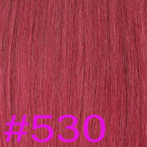 "20"" V-Tip Fusion Hair Extensions EUROPEAN STRAIGHT - Colour #530 - Burgundy"