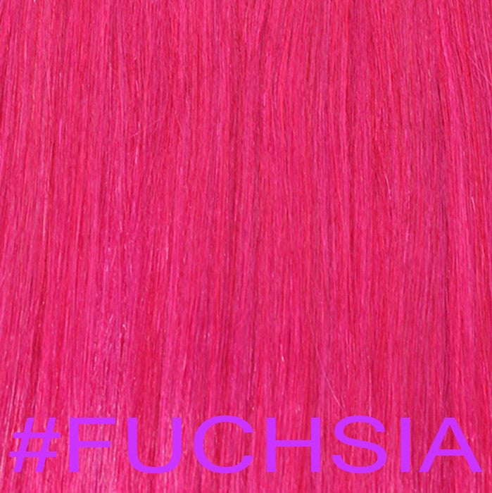"20"" V-Tip Fusion Hair Extensions EUROPEAN STRAIGHT - Colour #FUCHSIA - Fuchsia"