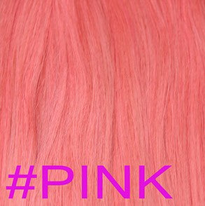 "20"" Micro Loop Hair Extensions EUROPEAN STRAIGHT - Colour #PINK - Pink"