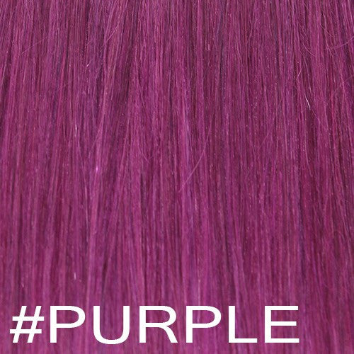 "20"" Micro Loop Hair Extensions EUROPEAN STRAIGHT - Colour #PURPLE - Purple"
