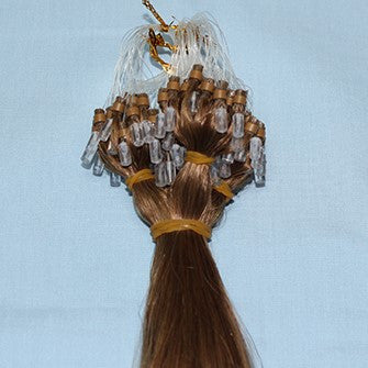 "20"" Micro Loop Hair Extensions EUROPEAN STRAIGHT - Colour #006 - Medium Brown"