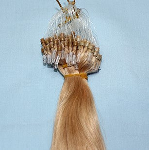 "20"" Micro Loop Luxury EUROPEAN Virgin Remy Extensions STRAIGHT - Colour #014 - Light Golden Brown"