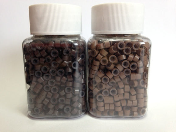 Micro Link Beads - 5mm With Silicone Lining - 002 - Brown