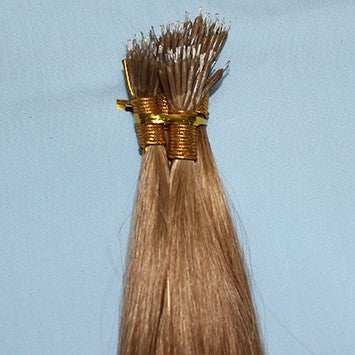 "20"" Nano Ring Hair Extensions EUROPEAN STRAIGHT - Colour #008 - Light Brown"