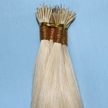 "20"" Nano Ring LUXURY EUROPEAN Hair Extensions STRAIGHT - Colour #022 - Medium Blonde"