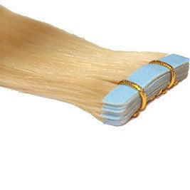 "20"" Tape In Luxury EUROPEAN Virgin Remy Extensions STRAIGHT - Colour #060 - Lightest Golden Blonde"