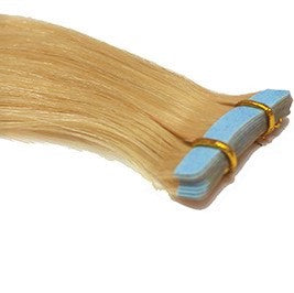 "20"" Tape In Luxury EUROPEAN Virgin Remy Extensions STRAIGHT - Colour #613 - Light Blonde"