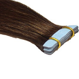 "20"" Tape In Luxury EUROPEAN Virgin Remy Extensions STRAIGHT - Colour #004 - Chocolate Brown"