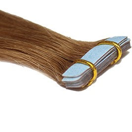 "20"" Tape In Luxury EUROPEAN Virgin Remy Extensions STRAIGHT - Colour #007 - Medium Golden Brown"