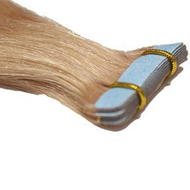 "20"" Tape In Luxury EUROPEAN Virgin Remy Extensions STRAIGHT - Colour #014 - Light Golden Brown"