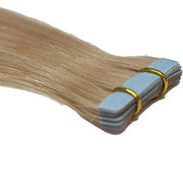"24"" Tape In Luxury EUROPEAN Virgin Remy Extensions STRAIGHT - Colour #060B - Lightest Pearl Blonde"