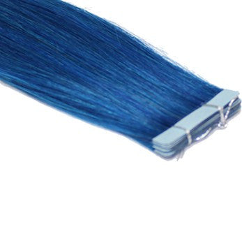"20"" Tape In Extensions EUROPEAN STRAIGHT - Colour #BLUE - Blue"
