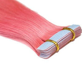 "20"" Tape In Extensions EUROPEAN STRAIGHT - Colour #PINK - Bubble Gum Pink"
