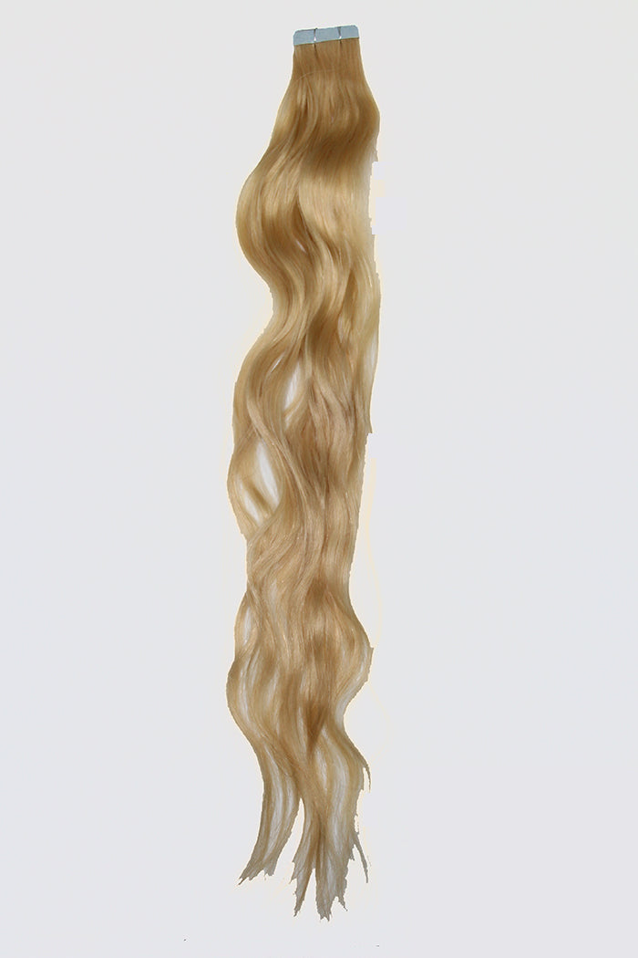 "20"" Tape In Luxury EUROPEAN Virgin Remy Extensions BEACH WAVE - Colour #022 - Medium Blonde"