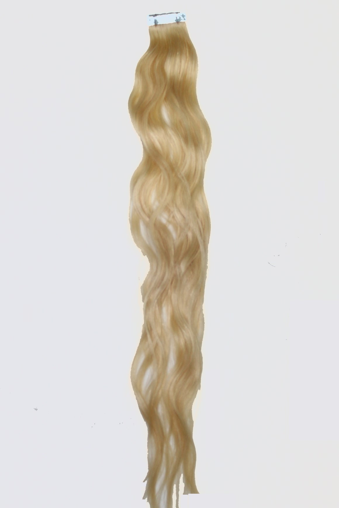 "20"" Tape In Luxury EUROPEAN Virgin Remy Extensions BEACH WAVE - Colour #060 - Lightest Golden Blonde"