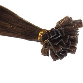 "24"" V-Tip Fusion Luxury EUROPEAN Virgin Remy Extensions  STRAIGHT - Colour #004 - Chocolate Brown"