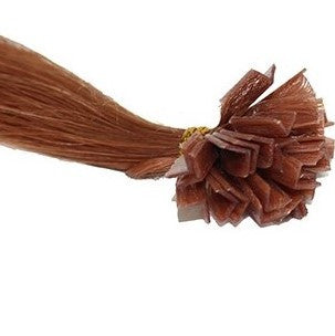 "20"" V-Tip Fusion Hair Extensions EUROPEAN STRAIGHT - Colour #030 - Light Auburn"