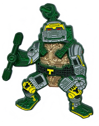 TMNT Metalhead Action Figure Enamel Pin