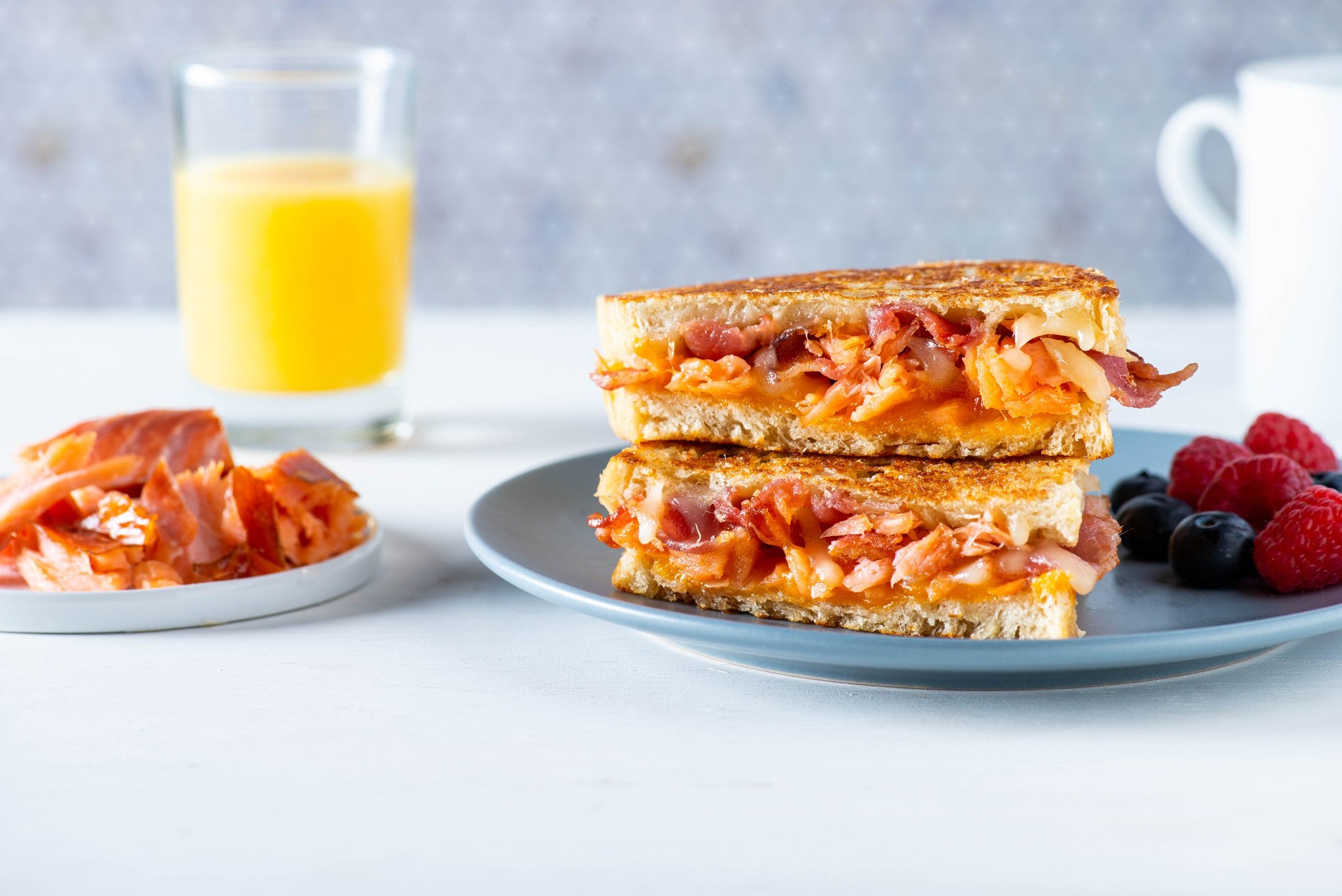 Breakfast Honey Smoked Salmon® Grilled Cheese