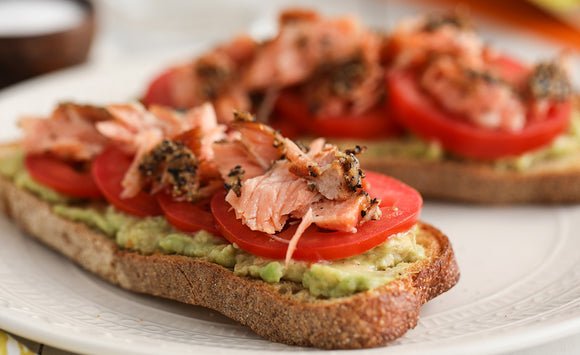 Honey Smoked Salmon Avocado Toast