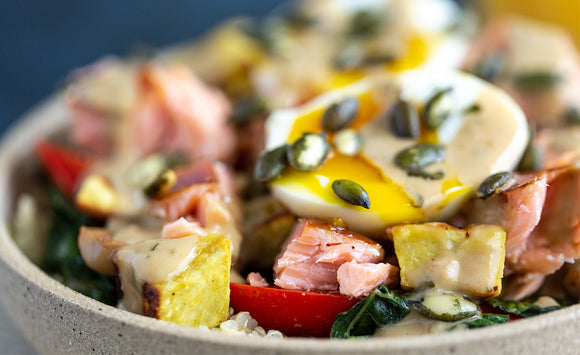 Honey Smoked Salmon Breakfast Bowl