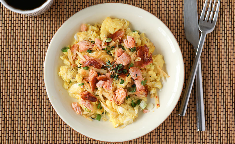 Honey Smoked Salmon® Scrambled Eggs