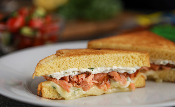 Honey Smoked Salmon Grilled Cheese Sandwich