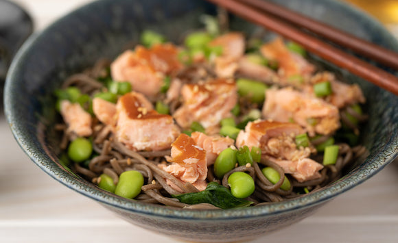Honey Smoked Salmon and Asian Soba Noodles