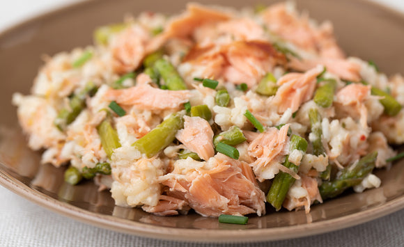 Honey Smoked Salmon and Asparagus Risotto
