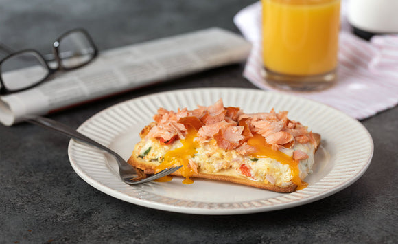 Honey Smoked Salmon Breakfast Pizza