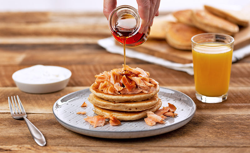Salmon Topped Pancakes