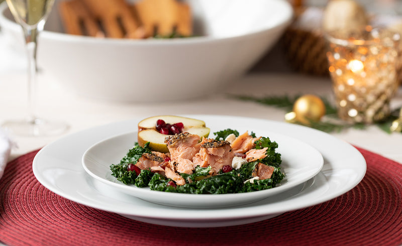 Honey Smoked Salmon Wintergreen Salad