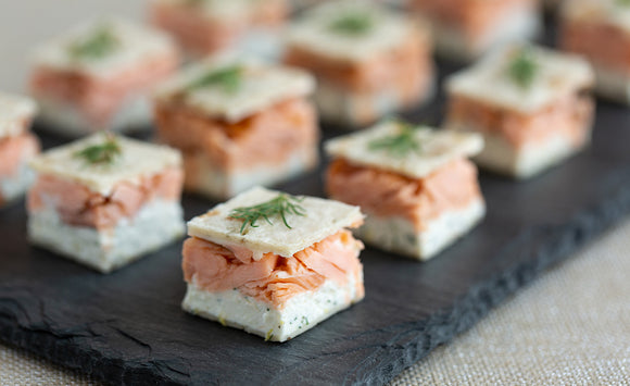 Honey Smoked Salmon Bites