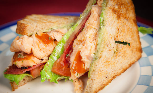 Honey Smoked Salmon BLT Sandwich