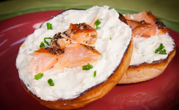 Honey Smoked Salmon Bagel & Cream Cheese