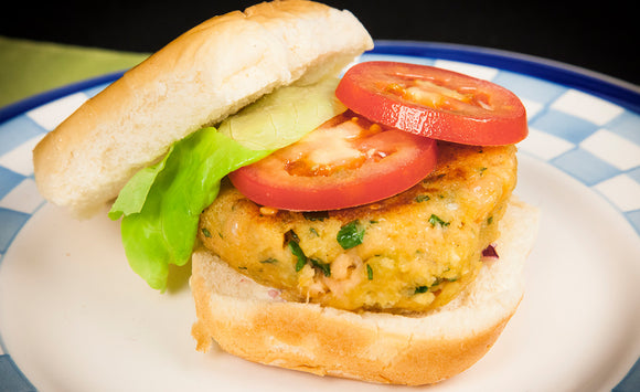 Honey Smoked Salmon Burgers