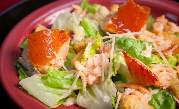 Honey Smoked Salmon Caesar Salad